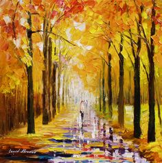 """""""Guardians of gold"""" by Leonid Afremov ___________________________ Click on the image to buy this painting ___________________________ #art #painting #afremov #wallart #walldecor #fineart #beautiful #homedecor #design"""