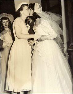 Lesbian couple's wedding 1950's