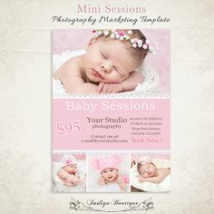 Photography Marketing Board - Mini Session- PSD Template 005 - ID074, Instant Download