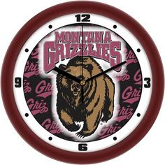 NCAA Montana Grizzlies Dimension Wall Clock
