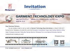 Richpeace Group Sincerely invite you to attend the GTE Exhibition in New Delhi. Our Booth number is B-9.