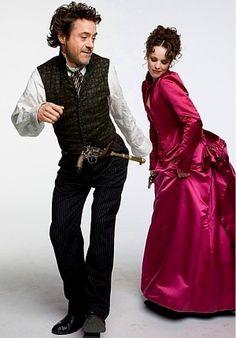 Twerking, 1891-style. (Robert Downey Jr. and Rachel McAdams as Sherlock Holmes and Irene Adler.) Take that, Miley!