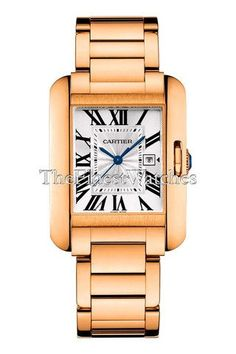 Cartier W5310003 Tank Anglaise 18K Rose Gold Automatic Luxury Dress Women's Watch. 18K Rose Gold. Silver Dial. Automatic. Tank Anglaise. Black Roman Numerals.