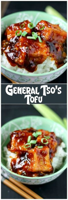 General Tso's Tofu will have you forgetting about the meat and devouring dinner! This is the BEST vegetarian version of the famous General Tso's dish.