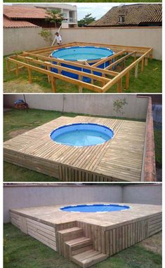 Having a pool sounds awesome especially if you are working with the best backyard pool landscaping ideas there is. How you design a proper backyard with a pool matters. Small Backyard Pools, Backyard Pool Designs, Backyard Patio, Backyard Ideas, Small Backyards, Diy Patio, Patio Ideas, Piscina Diy, Diy Swimming Pool