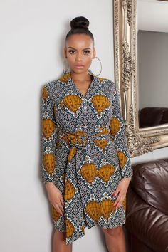 """African fashion Ankara styles, New Ankara designs for Ladies. The precision of every woman's goal is to always look good and be acceptable at all time, it is bound by this saying; """"that Looking good is a healthful business African Print Dresses, African Fashion Dresses, African Dress, Fashion Outfits, Fashion Hacks, Fashion Ideas, African Print Skirt, Ankara Fashion, African Prints"""