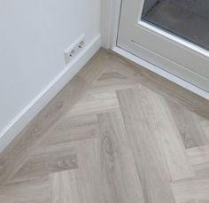 Home Decoration For Halloween Wood Floor Pattern, Wood Floor Design, Herringbone Wood Floor, Wood Look Tile Floor, Wood Tile Floors, Wooden Flooring, Kitchen Flooring, Planchers En Chevrons, Doors And Floors