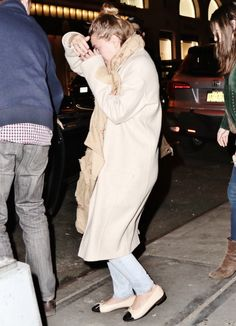 Ashley out with friends - among them Bob Saget - in NYC (via olsensobsessive.com)
