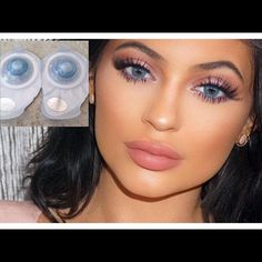 Brilliant Blue Freshlook Color blend Contact Lens Nonprescription/ Never worn (1pair. Exotic bright blue , looks amazing with smokey eyes. Expiration date: 2017/03 ✅15 dollars on merc) Freshlook Makeup