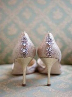 Pink Rhinestone Wedding Shoes