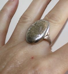 My latest vintage ring acquisition to add to my collection; Sterling silver