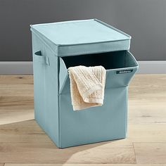Brabantia Blue Stackable Laundry Sorter | Crate and Barrel