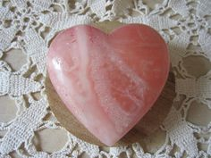 Vintage Heart Paperweight  Pink Heart by JewelsOfHighElegance, $12.50
