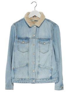 Topshop BORG Kurtka jeansowa bleach