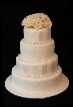 Classic White Wedding cake ...