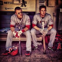 Mike trout and mark Trumbo two amazing players .. #mlb #laangels