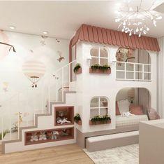 Kids Cubby Houses, Kids Cubbies, Girls Bedroom, Bedroom Ideas, Bedroom Decor, Kids Room Design, Kiosk, Nice Dresses, Interior Design