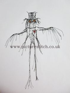 Embroidery Digital File   Thread Scarecrow by NicolaElliott