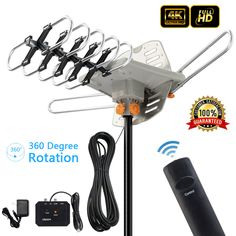 Frequency: VHF Our Outdoor HDTV Antenna is one of the most powerful on the market with up to Gain and a range of 150 miles. This HDTV Antenna is designed to receive Digital TV UHF/VHF signals and provides the highest quality HDTV picture available. Diy Tv Antenna, Outdoor Hdtv Antenna, Antenna Gain, Wifi Antenna, Ideal Tools, Digital Tv, Make Money From Home, Consumer Electronics, Cool Things To Buy