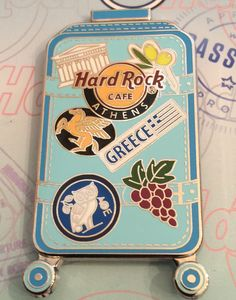Hard Rock Cafe Athens 2017 Global Traveler Series Pin.