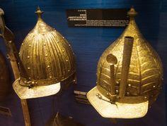European helmets in the Ottoman style, 16th century, Vienna Austria.