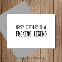 Items Similar To Funny Birthday Card For Him Her Rude Inappropriate Offensive Naughty Happy A Fcking