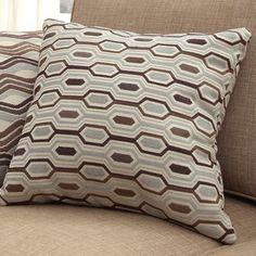 INSPIRE Q Clybourn 18-inch Toss Mocha Honeycomb Accent Pillow (Set of 2) - Overstock™ Shopping - Great Deals on INSPIRE Q Throw Pillows