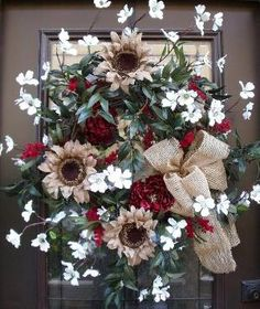 Dogwood Wreath Spring Wreaths Door Wreaths Country by LuxeWreaths, $175.00 by sheree
