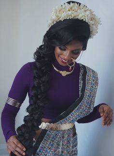The Monochromatic Bride // Hair & Makeup: Rav Brar // Photo/Styling: Kaashni Brar   // Model: Priyanka Gnana