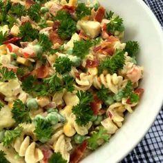 Raw Vegan Recipes, Italian Recipes, Healthy Recipes, Healthy Food, Food N, Food And Drink, Pasta Salad, Food Inspiration, Cravings