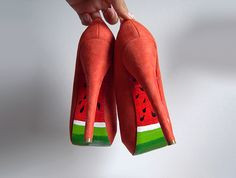 Watermelon-soled high heel DIY tutorial! #diy #crafts