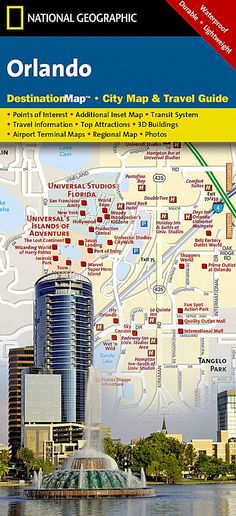 Orlando, Florida DestinationMap by National Geographic Maps
