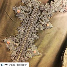 isit us at Almizhir Hall Zardozi Embroidery, Embroidery Dress, Beaded Embroidery, Hand Embroidery, Embroidery Designs, Morrocan Kaftan, Moroccan Dress, Soutache Pattern, Smart Casual Women
