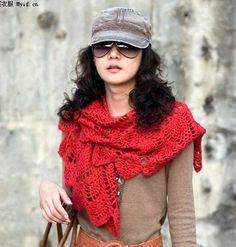 PATRONES GRATIS DE CROCHET: Patrón gratis de un precioso y original chal a crochet