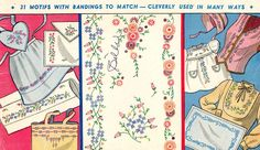 Vogart 153 Flowers & Bandings for Linens & Aprons. A 1950s hand embroidery pattern.
