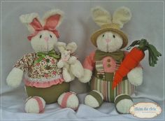 Casal de coelhos Heitor e Helena.