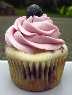 Lemon Blueberry Cupcake...yumm