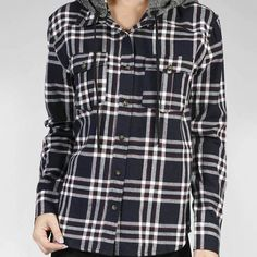 Navy Plaid Hooded Top - Lovely LAUNDRY Boutique - Adorable clothes at affordable prices.   Instagram: @lovelylaundryboutique  #instashop #modestclothes #modestclothing #shopmycloset #instaboutique #instagramboutique