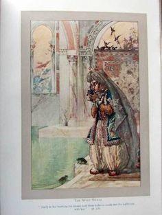Hans-Andersen-Fairy-Tales-1912-Duncan-Carse-Colour-illustrations-Snow-Queen