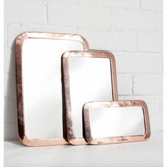 Rose Gold Moroccan Rounded Rectangle Mirror | Jade and May
