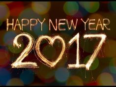 Happy New Year 2017- Best wishes, New Year greetings, Animated whatsapp video, E-card, fireworks - YouTube