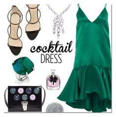 """""""Cocktail dress"""" by mada-malureanu ❤ liked on Polyvore featuring Maria Lucia Hohan, Giuseppe Zanotti, Opening Ceremony, Yves Saint Laurent, Smith & Cult, Silver, jewelry, cocktaildress and revekarose"""