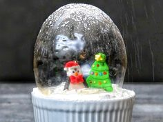 Adorable Edible Snow Globes