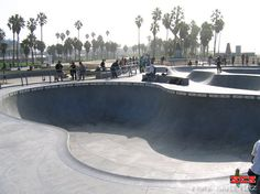 Venice Skatepark Bowl one of the only beachside skateparks in the world
