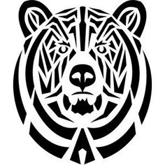 24 Ideas Drawing Animals Tribal Tat For 2019 Tribal Bear Tattoo, Bear Paw Tattoos, Tribal Tattoos, Triangle Tattoos, Ankle Tattoos, Arrow Tattoos, Tattoo Son, Tatto Ink, Body Art Tattoos