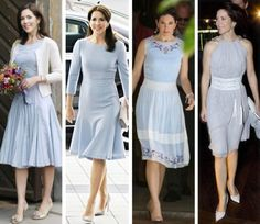 royal roaster: Crown Princess Mary in baby blue dresses