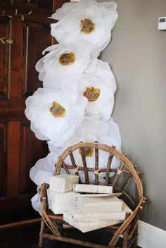 Giant Tissue Paper Flower... easy, inexpensive & beautiful party decor