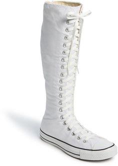Knee high converse white