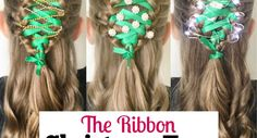 The Ribbon Christmas Tree Braid Tree Braids, Christian Wife, Christmas Hairstyles, Cute Hairstyles, New Moms, Hair Makeup, Ribbon, Corner, Christmas Tree