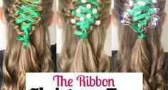 The Ribbon Christmas Tree Braid Tree Braids, Christian Wife, Christmas Hairstyles, New Moms, Cute Hairstyles, Hair Makeup, Ribbon, Corner, Christmas Tree